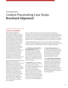 Creative Placemaking Case Study: Brookland-Edgewood