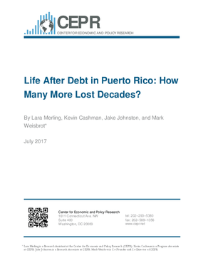 Life After Debt in Puerto Rico: How Many More Lost Decades?