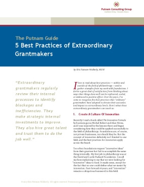 5 Best Practices of Extraordinary Grantmakers