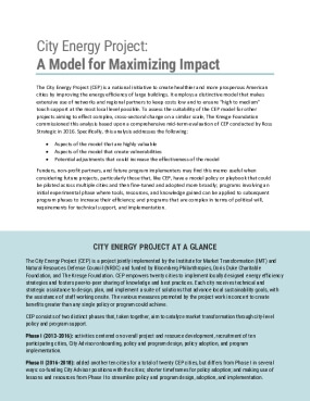 City Energy Project: A Model for Maximizing Impact