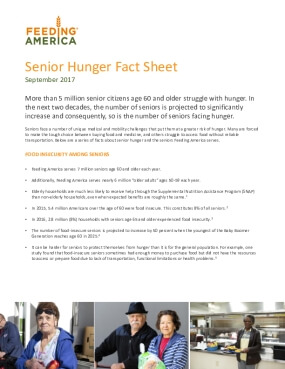 Senior Hunger Fact Sheet