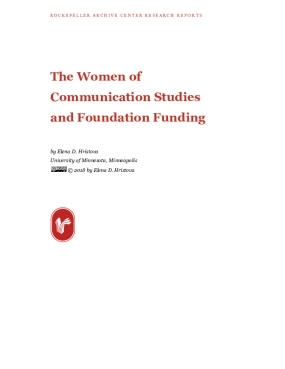 The Women of Communication Studies and Foundation Funding