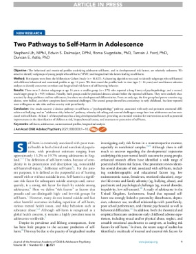 Two Pathways to Self-Harm in Adolescence