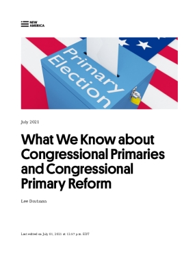 What We Know about Congressional Primaries and Congressional Primary Reform