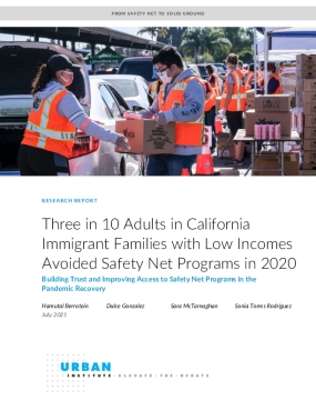 Three in 10 Adults in California Immigrant Families with Low Incomes Avoided Safety Net Programs in 2020
