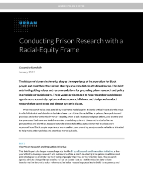 Conducting Prison Research with a Racial-Equity Frame